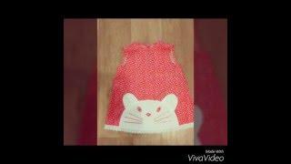 Как сшить платье для девочки(Простое платье из ситца, украшенное аппликацией в виде кошечки. С карманом