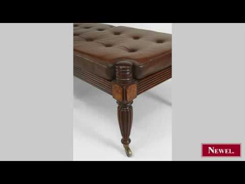 Antique English Regency style (20th Cent) mahogany 6 legged