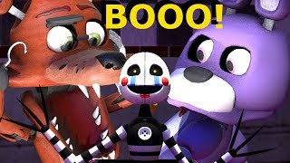 FNAF Baby Foxy and the baby animatronics react to a Jack in the box - FNAF SFM animation