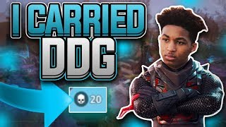 FORTNITE BATTLE ROYALE | CARRYING DDG TO A VICTORY! ~ I KILLED AN ENTIRE SQUAD! ~ DROPPED 20 KILLS!