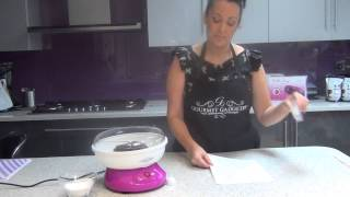 How to Make Candy Floss Cones out of paper at home With Gourmet Gadgetry!