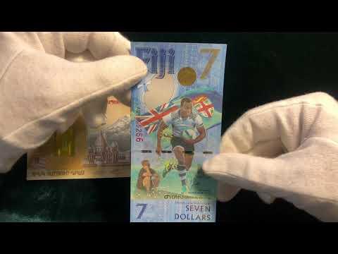 Красивые банкноты Армении и Фиджи.