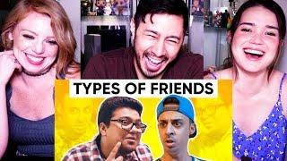 TYPES OF FRIENDS | Jordindian | Friendship Day | Reaction w/ Jaby, Jules & Achara!