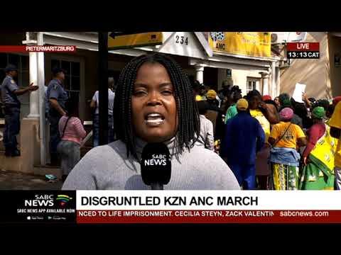 Disgruntled KwaZulu-Natal ANC march