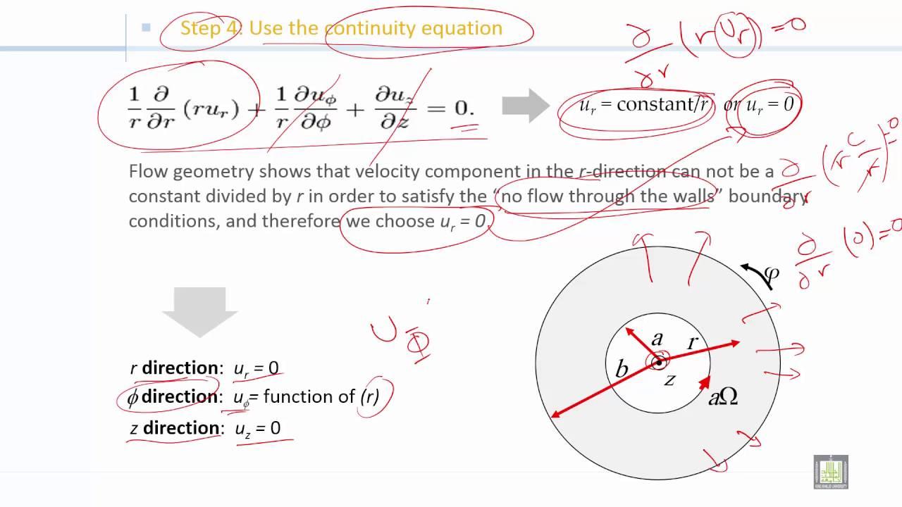 Fluid Mechanics 2   C2-L13   Incompressible flow of Newtonian fluid between  two cylinders - 2
