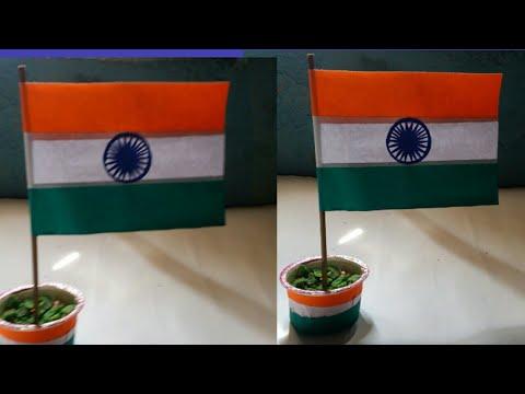 DIY paper craft / how to make National flag/make National flag Instantly/Indian Tri colour