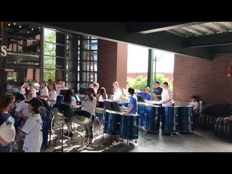 Chehalis Middle School steel drum band