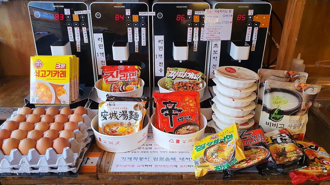24H Ramen Convenience Store, Korean Instant Noodles - Korean Street Food [ASMR]