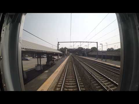 Amtrak Train 172 - Route 128 to Boston Back Bay Rear View (GoPro)