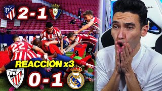 REACCIONES DE UN HINCHA Athletic Club vs Real Madrid 0-1 | Atlético de Madrid vs Osasuna 2-1
