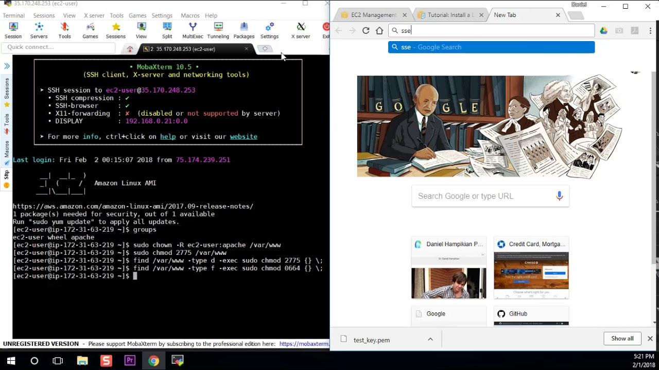 how to setup a wordpress website on aws
