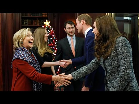 Prince William and Kate meet Hillary Clinton in New York