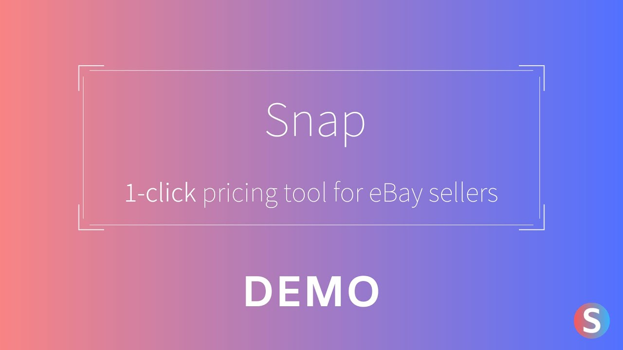 Snap For Ebay Demo 1 Click Pricing Tool For Ebay Sellers Youtube