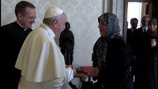Pope Francis meets president of Muslim charity organization