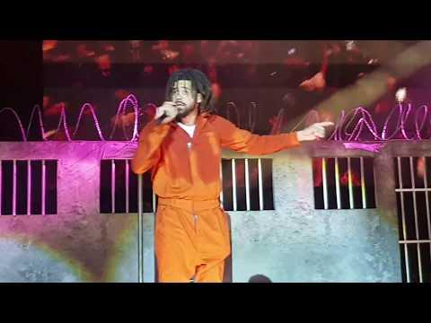 J. Cole - No Role Modelz LIVE @ London 02 Arena ( 4 Your Eyez Only Tour)