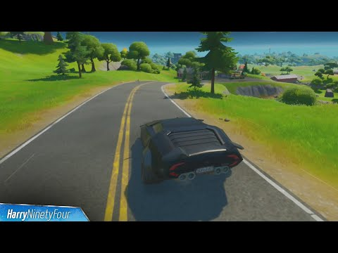 Drive a Car From Retail Row to Pleasant Park in Less than 4 Minutes Challenge - Fortnite