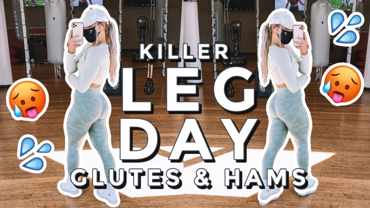 GLUTE and HAMSTRING Workout   Killer Leg Day & Post Workout Protein Shake!