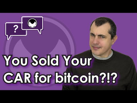 You sold your car for bitcoin?!  Buying and selling items secondhand for cryptocurrency