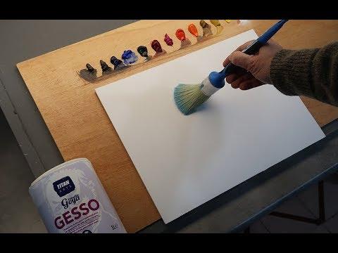 Una Imprimación Para Pintar Con óleo O Acrílico Sobre Tabla
