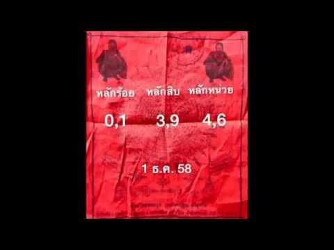 เลขเด็ด 1/12/58 ยันต์แดงหลวงพ่อคูณ หวย งวดวันที่ 1 ธันวาคม 2558