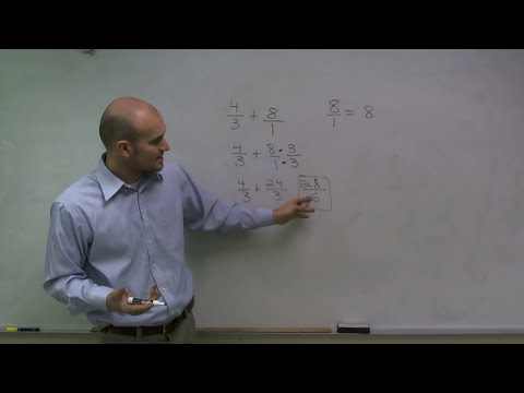 Adding a fraction to a whole number 4/3 +8 (Mistake) Can you find it? Read description