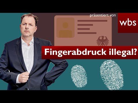 Gutachten bestätigt: Fingerabdruck im Perso illegal