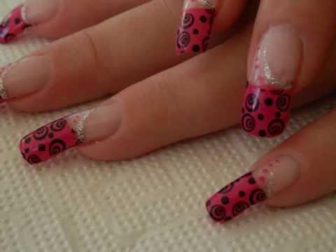 Long Nails New Design Nail Art Tutorial October 2012 Lovely Pink