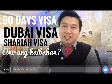 KAIBAHAN NG DUBAI VISA AT SHARJAH VISA (via FB Live)