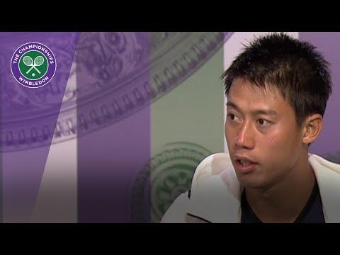 Kei Nishikori Wimbledon 2017 first round press conference