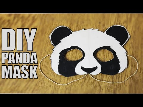 How to make a paper mask - DIY Panda Mask