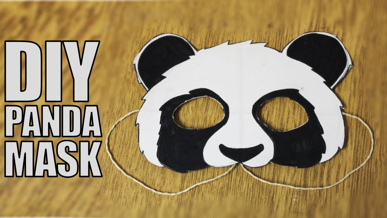 How To Make A Paper Mask Diy Panda Mask Youtube