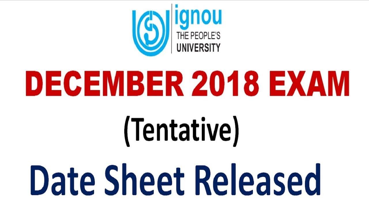 Ignou term end date sheet june