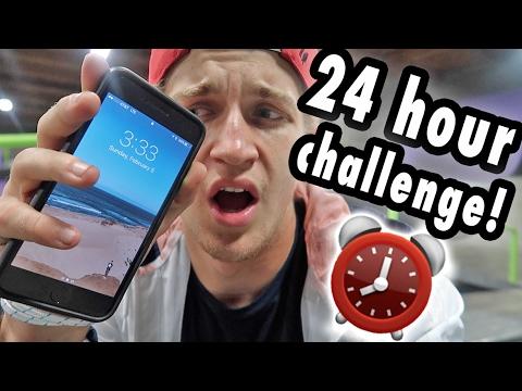 24 HOUR CHALLENGE INSIDE NYJAH HUSTON'S SKATE PARK!