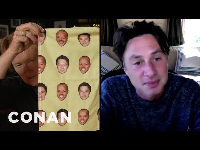 Zach Braff & Donald Faison's Washcloth Debate - CONAN on TBS