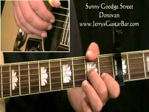 How To Play Donovan Sunny Goodge Street First Part Only Youtube