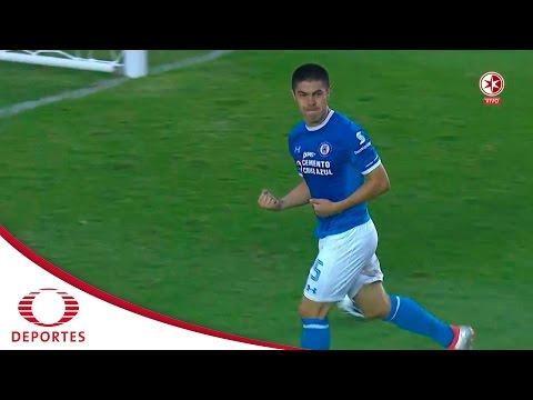 Gol de Francisco Silva   Cruz Azul 3 - 1 Santos   Jornada 6 - A16   Televisa Deportes