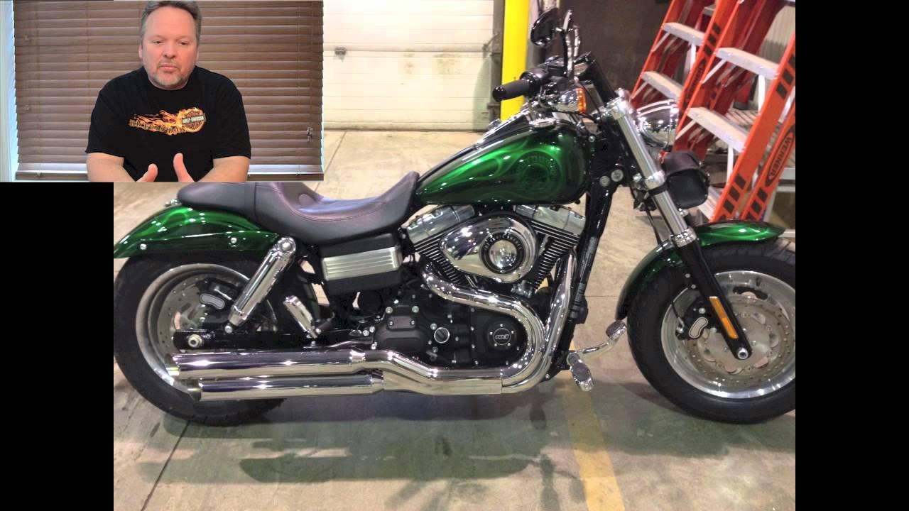 Harley Fat Bob Custom Rear Fender Modification Youtube