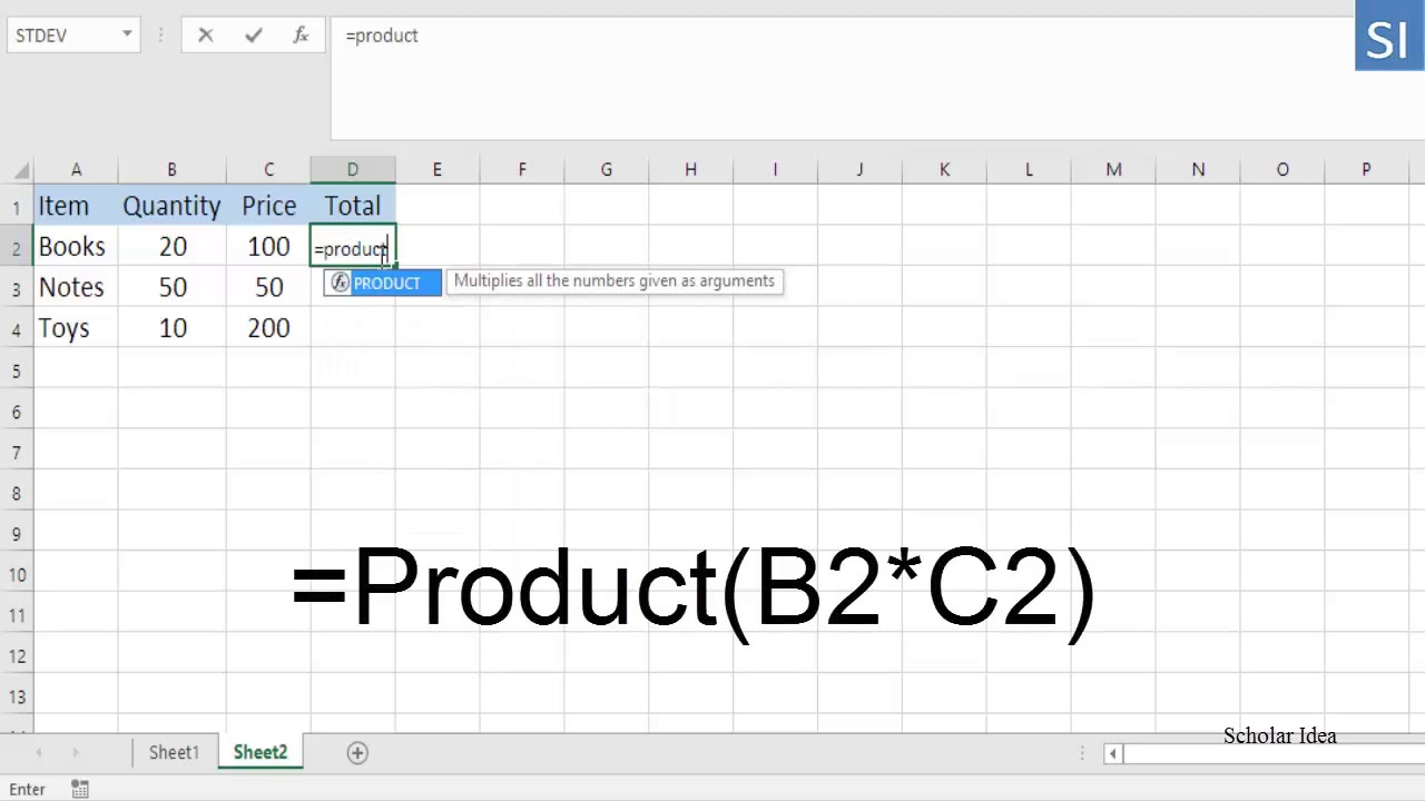 20 ways to multiply two columns in excel