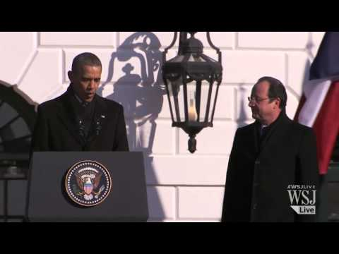 A White House Welcome For French Leader Hollande