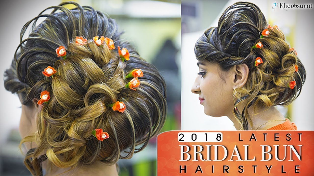 indian bridal bun hairstyle | quick and easy step by step high hair bun  tutorial video | pooja goel