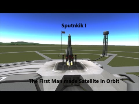 Model / Reenactment of Sputnik I in Kerbal Space Program