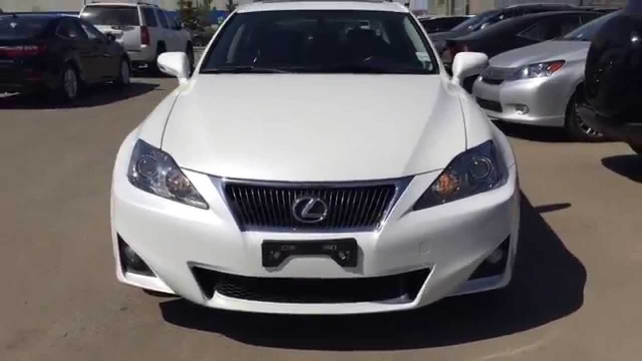 pre owned white 2011 lexus is 250 awd leather with moonroof review fort mcmurray youtube. Black Bedroom Furniture Sets. Home Design Ideas