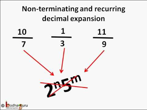 Maths X - Recurring and nonrecurring Decimals - Real numbers - Part 5 - English