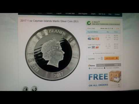 2017 Cayman Islands/Scottsdale Mint Marlin Release-50,000 Mintage!