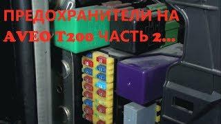видео блок предохранителей на Авео