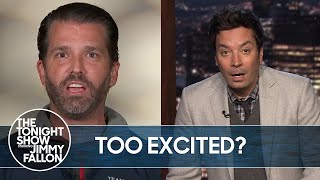 Donald Trump Jr. Gets a Little Too Excited in Fox News Interview | The Tonight Show