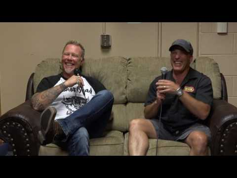 WRIF's Meltdown talks with James from Metallica before Comerica Park Show