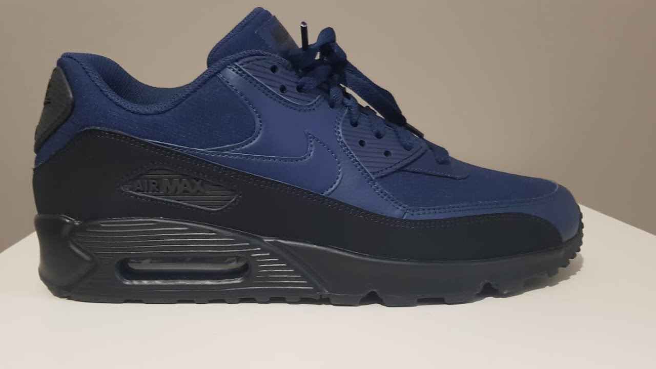 Nike Air Max 90 Essential BlackMidnight Navy Unboxing and On Feet