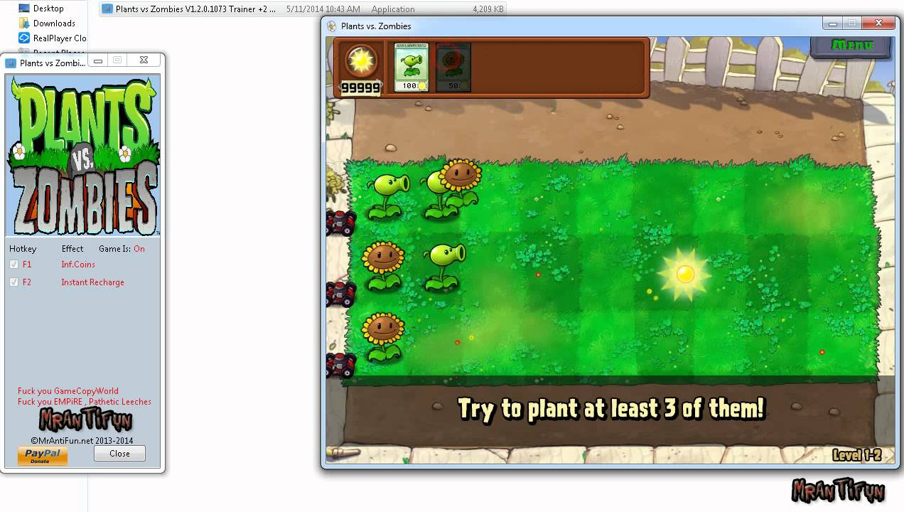 How to hack plants vs zombies for sun, money and speed (11/23/2010.