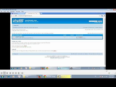 hướng dẫn tạo nhanh diễn đàn với mã nguồn mở phpBB (tiếng việt )